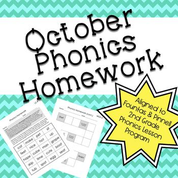 Phonics Homework: October