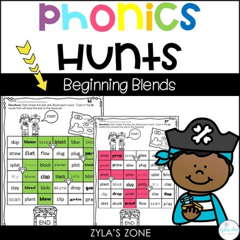 Phonics Hunts: Beginning Blends Activities