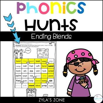 Phonics Hunts: Ending Blends