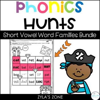 Phonics Hunts Bundle   Short Vowel Word Families