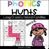 Phonics Hunts: Short O and U Word Families