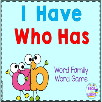 """Phonics: I Have Who Has: Focus """"ab"""" Word Family Game"""