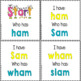 """Phonics: I Have Who Has: Focus """"am"""" Word Family Game"""