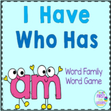 "Phonics: I Have Who Has: Focus ""am"" Word Family Game"