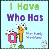 "Phonics: I Have Who Has: Focus ""at"" Word Family Game"