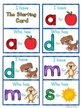 I HAVE, WHO HAS? Beginning Sounds