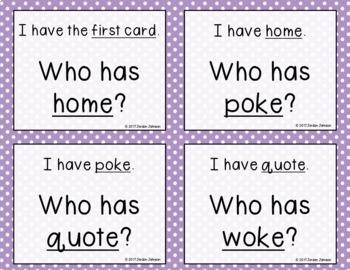 Phonics - I Have, Who Has  - Long O (o_e) Words