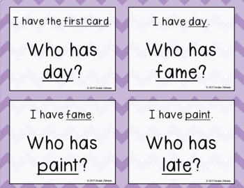 Phonics - I Have, Who Has - Long Vowel Mix BUNDLE