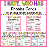 Phonics - I Have, Who Has - Long Vowel Mix BUNDLE