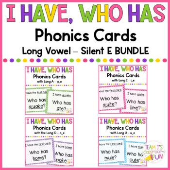 Phonics Games Long Vowel Silent E BUNDLE