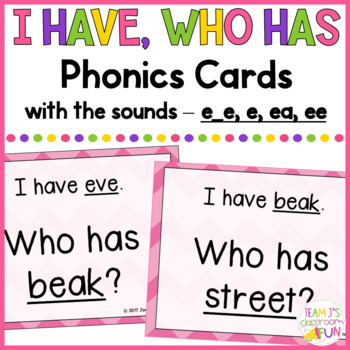 Phonics Game Mix of Long E (e_e, e, ee, ea) Words