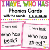 Phonics - I Have, Who Has - Mix of Long E (e_e, e, ee, ea) Words