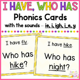 Phonics - I Have, Who Has - Mix of Long I (i_e, i, ie, y,