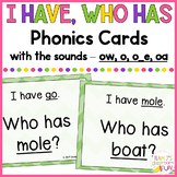 Phonics Game Mix of Long O (o_e, o, oa, ow) Words