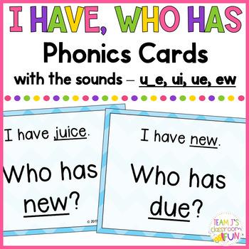 Phonics Game Mix of Long U (u_e, ui, ue, ew) Words