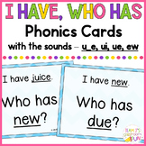 Phonics Game Mix of Long U (u_e, ui, ue, ew) Words