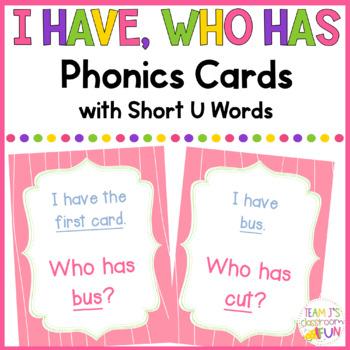 Phonics Game Short U (CVC) Words