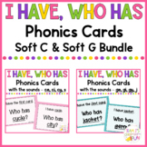 Phonics Games Soft C and G Words BUNDLE
