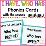 Phonics Game Soft G Words