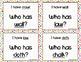 Phonics - I Have, Who Has  - aw, al, o words