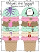 Phonics Ice Cream Scoops for Pre-K-1st Differentiation/Gam