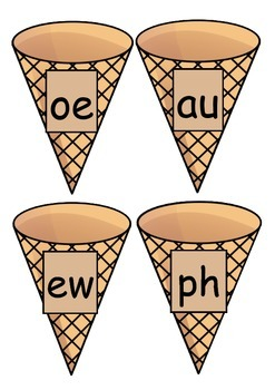 Phonics Ice Cream Cones (Phase 5)