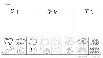Phonics Initial Sounds - R, T, S