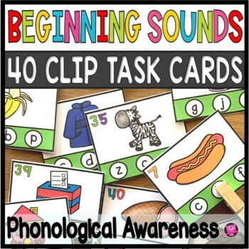 Letter and Sounds Correspondence Task Cards Beginning Phonics