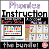 Phonics Instruction   Alphabet Posters and Slide Deck BUNDLE