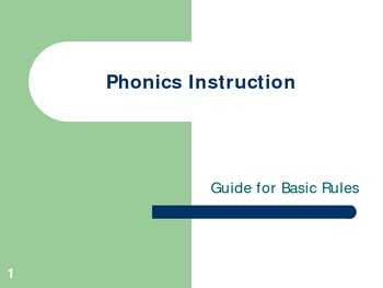Phonics Instruction PowerPoint
