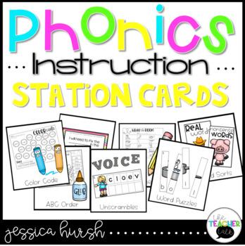 Phonics Instruction Station Cards