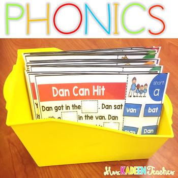 Phonics Interactive Mats All Year Growing Bundle