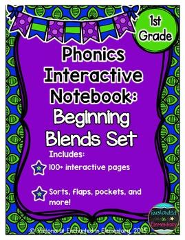 Phonics Interactive Notebook: Beginning Blends Set