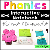 Phonics Interactive Notebook - Blends and Digraphs