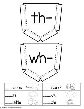 Phonics Interactive Notebook: Digraphs Set