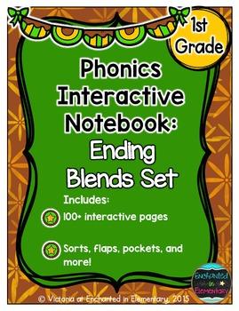 Phonics Interactive Notebook: Ending Blends Set
