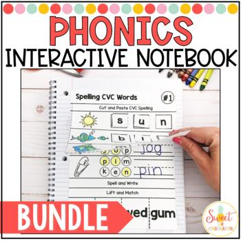 Phonics Interactive Notebook Yearlong BUNDLE