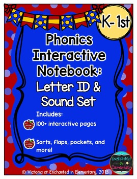 Phonics Interactive Notebook: Letter ID and Sounds Set