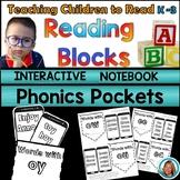 Phonics Worksheets Kindergarten - 2nd Grade Interactive Notebook Phonics Pockets