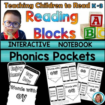 Phonics Worksheets Kindergarten - 2nd Grade Interactive Notebook Phonics Pockets