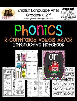 Phonics Interactive Notebook- R-Controlled Vowels ar/or