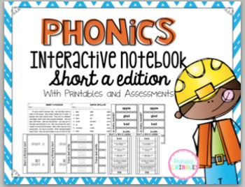 Phonics Interactive Notebook Short A Edition