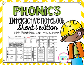 Phonics Interactive Notebook Short I Edition