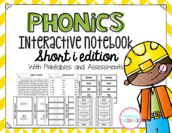 Phonics Interactive Notebook Short I Edition