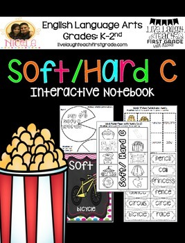 Phonics Interactive Notebook- Soft and Hard C