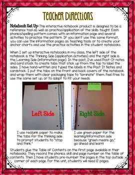 Phonics Interactive Notebook: THE BUNDLE!