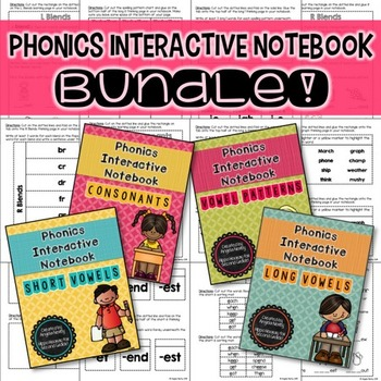 Phonics Interactive Notebook: THE BUNDLE!