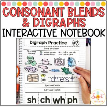 Phonics Interactive Notebook Volume 5- Consonant Blends and Digraphs