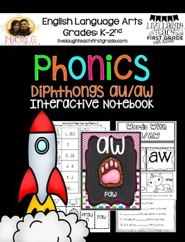 Phonics Interactive Notebook- au/ aw