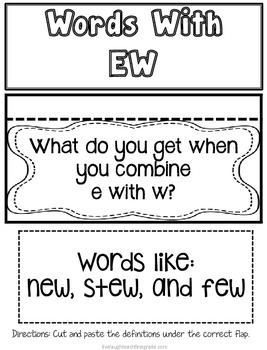 Phonics Interactive Notebook- ew
